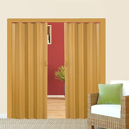 TecTake Puerta plegable de plástico 80 x 203 cm, PVC Puertas plegables, Puerta corredera - disponible en diferentes colores - (Arce | no. 401507): Amazon.es: Bricolaje y herramientas