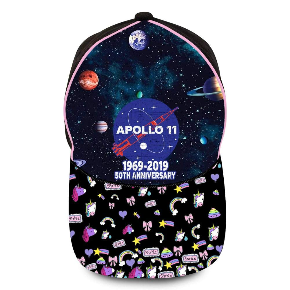 GIGIBO Apollo 11 1969-2019 50th Anniversary Lunar Landing Kids//Children Hip Hop Baseball Caps Adjustable Printed Hat