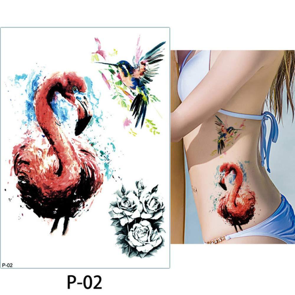 adgkitb 3 Piezas Tatuaje Corporal Flamenco Lindo Gato Arte Tatuaje ...