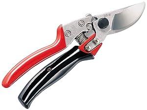 "ARS HP-VS8XR Rotating Handle Hand Pruner, 8"" Red/Black"