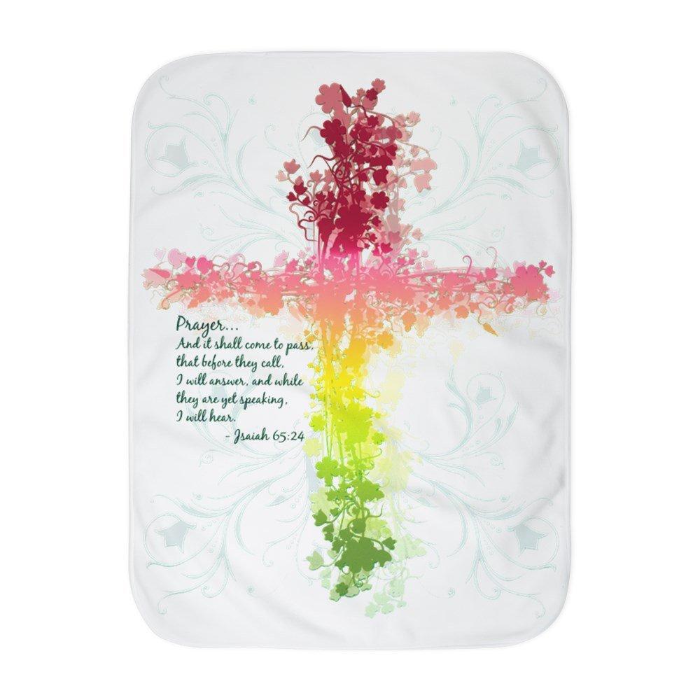 Royal Lion Baby Blanket White Christian Faith Bible Prayer Cross