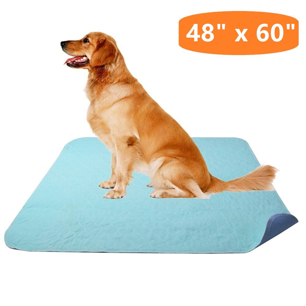 KOOLTAIL Washable Pee Pad for Dogs - 48'' x 60'' Reusable Puppy Training Pad, Whelping Mat