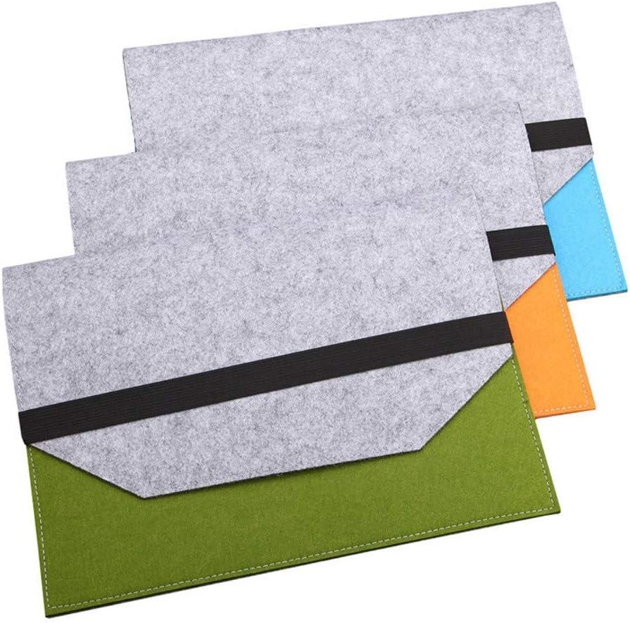 File folders-Felt Folder Expanding File Folder Portable Felt Holder documents Envelope Luxury Office Durable Briefcase Document Laptop Bag Paper Portfolio Case A4 Folders … (3 pcs)