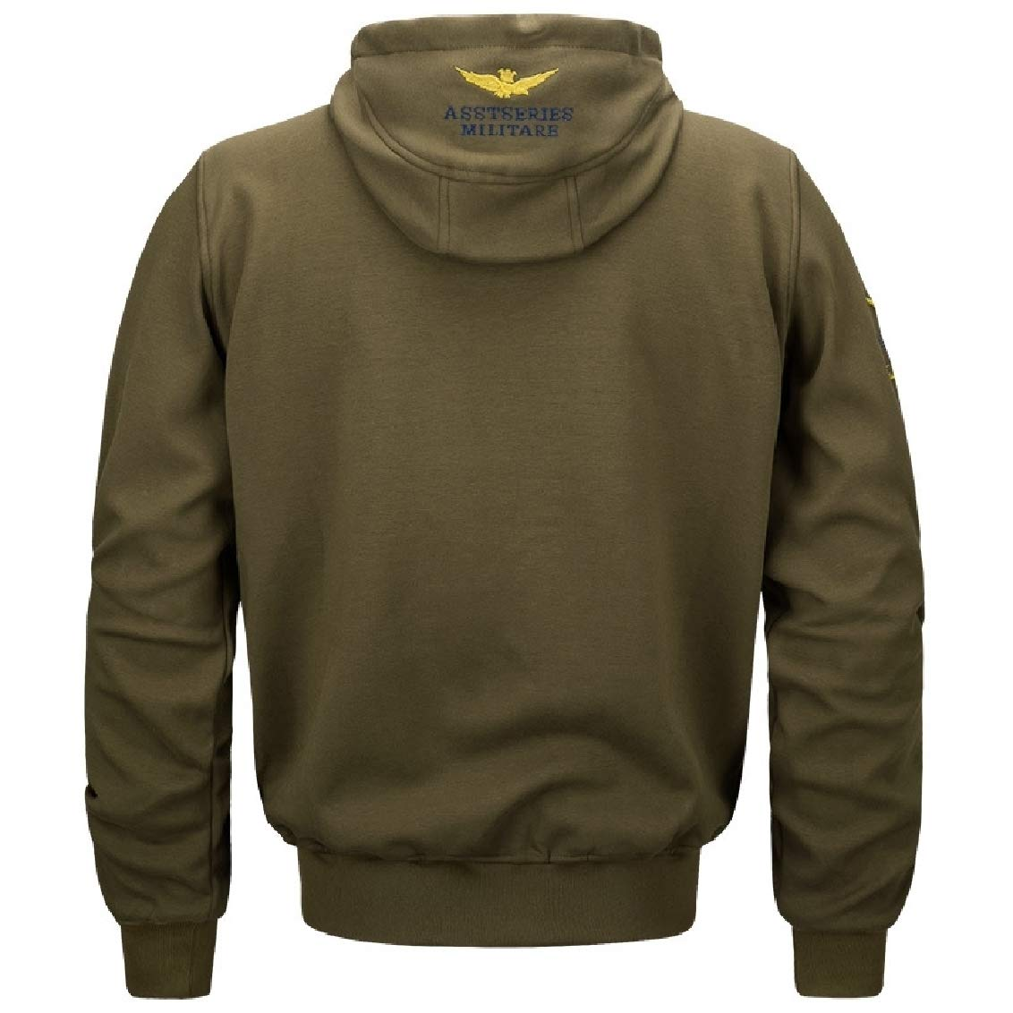 d3637d3463 ... Army Army Army Green Freely Men's Hood Leisure Athletic Embroidery  Cotton Coat Jacket bf1a14