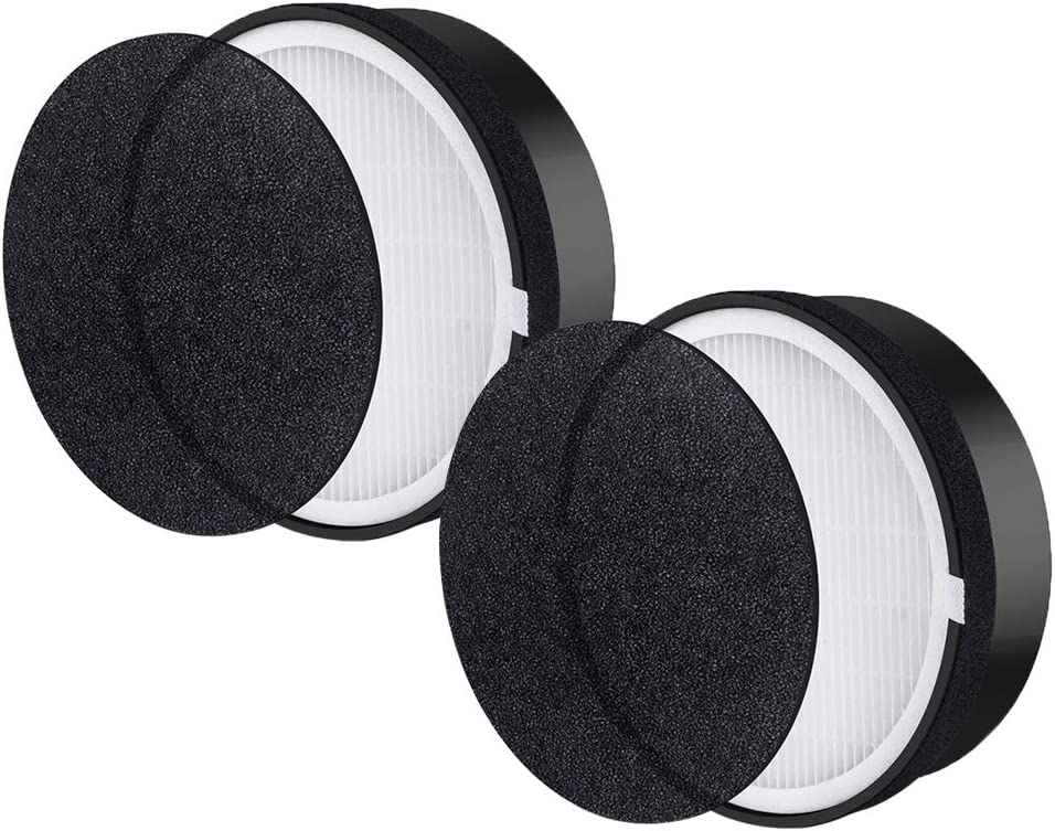 True HEPA with Activated Carbon Filter Compatible with Levoit LV-H132 Air Purifier, Part # LV-H132-RF (2 - Pack)
