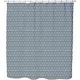 Uneekee African Leaves Shower Curtain: Large Waterproof Luxurious Bathroom Design Woven Fabric