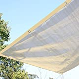 Ecover 16x20ft Sun Mesh Shade Panel, 90% Shade Cloth UV Sunblock with Grommets for Patio/Pergola/Canopy,Wheat