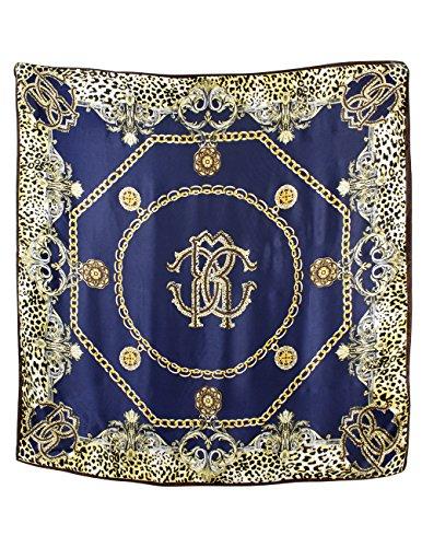Dahlia Women's 100% Square Silk Scarf - Leopard Print and...