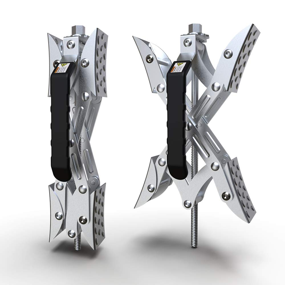 LEDKINGDOMUS X-Chock Wheel Stabilizer, RV Tire Stabilizers Locking Chock for Campers Travel Trailers Trucks with Standard Wrench, 1 Pair by LEDKINGDOMUS (Image #6)