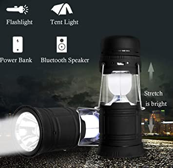 USB Rechargeable 400 Lumens Super Bright High Power LED Lamp Portable Camping Light Coleman 360 Light /& Sound LED Lantern and Bluetooth Speaker