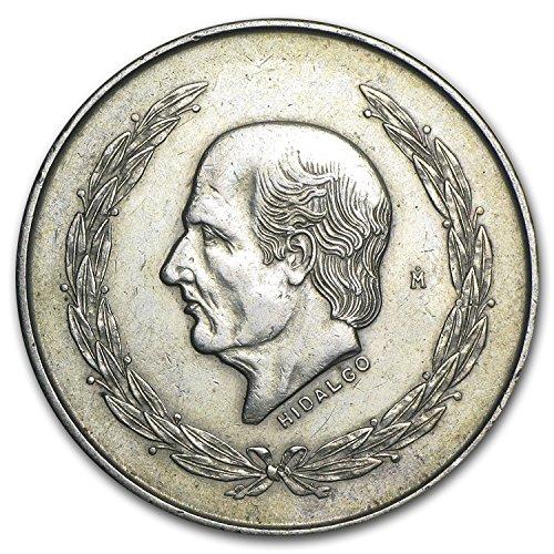 1951 MX - 1954 Mexico Silver 5 Pesos Hidalgo XF/AU Silver Extremely Fine