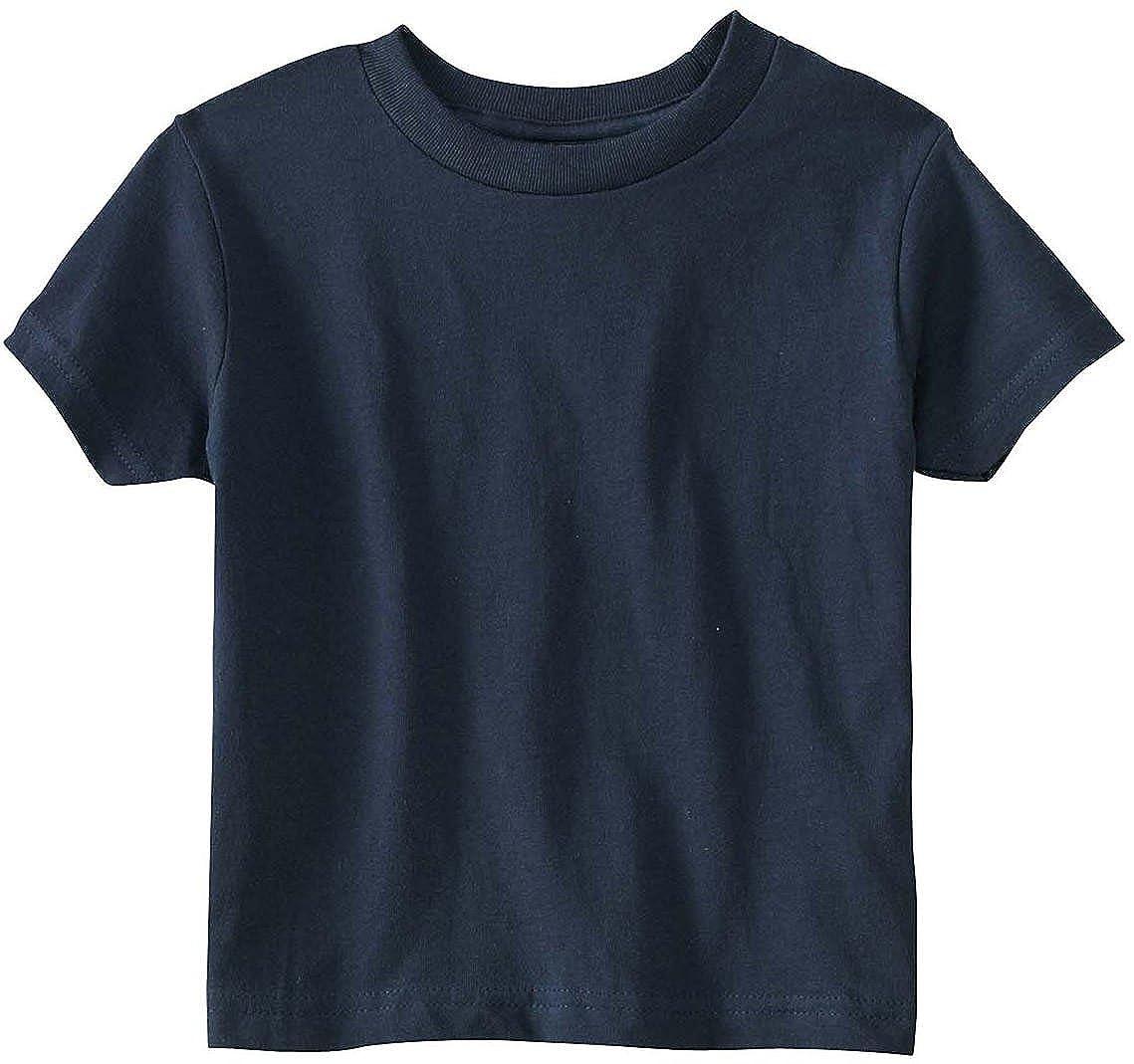 929def760 Amazon.com: RS3301 Rabbit Skins Toddler's 5.5 oz. Jersey Short-Sleeve T- Shirt: Clothing