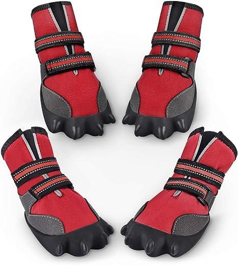 Petacc Bottes pour Chien imperméables Chaussures de Plein
