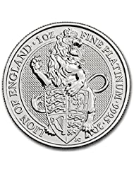 2017 UK Great Britain 1 oz Platinum Queen's Beasts The Lion 1 OZ Brilliant Uncirculated