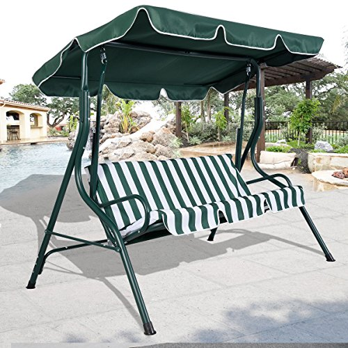 2 Set of Striped Swing Hammock Chair Patio 3 Person Seat ...