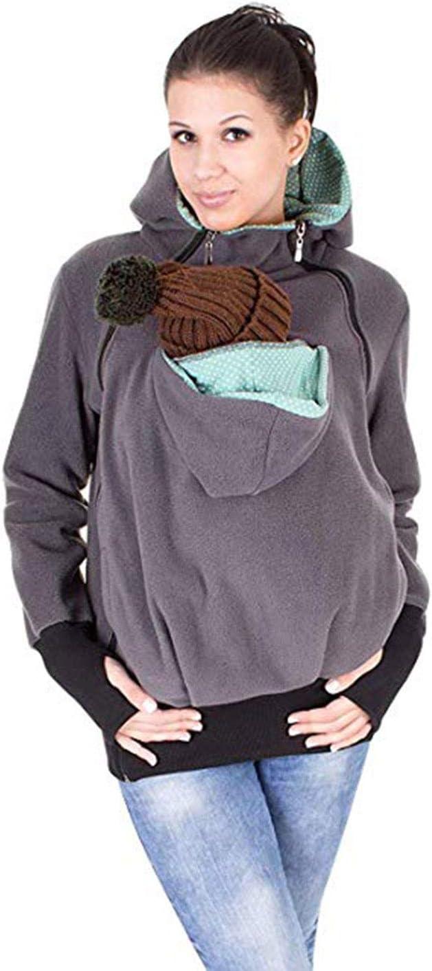 AIBAB Oto/ño E Invierno Tres En Uno Desmontable Saco De Dormir De Bebe Multifuncional Madre Canguro Camisa De Entrenamiento Capa Ropa De Mujer