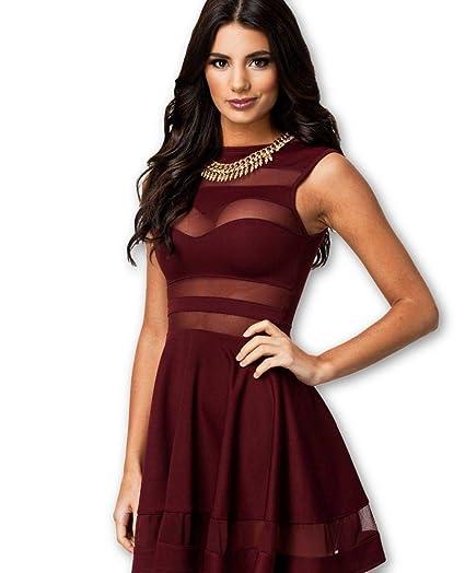 Fotos de vestidos de noche color vino