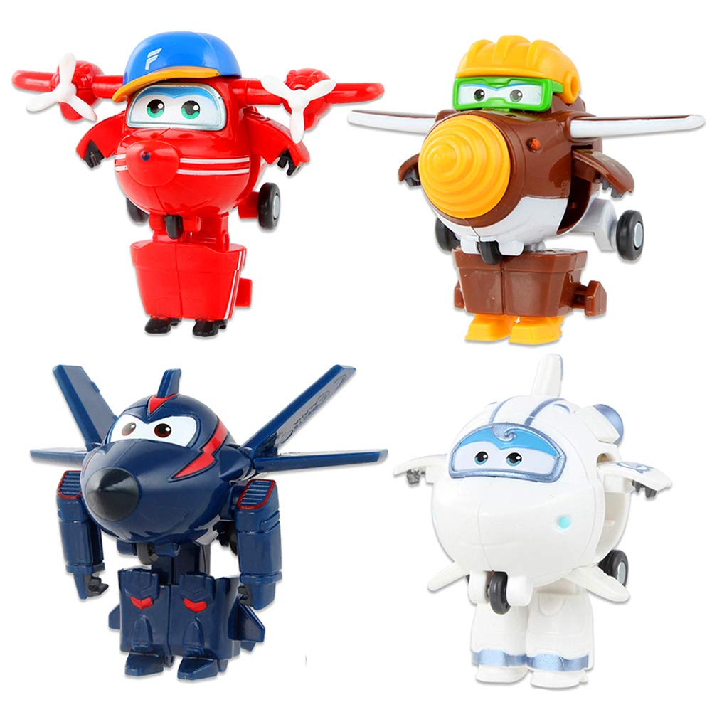 Super Wings-Transforming Figure Toy ABS Deformation Airplane RobotPre-Kindergarten Toysfor Toddler Boys and Girls Ages 3+ (Flip)