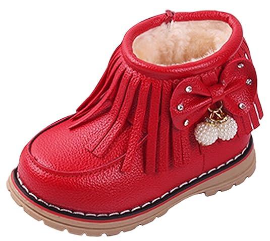 V-SOL Niñas Zapatos de Nieve Calzado Antideslizante Talla 21 Longitud de Pies 13cm Marrón FFWFRBCOy