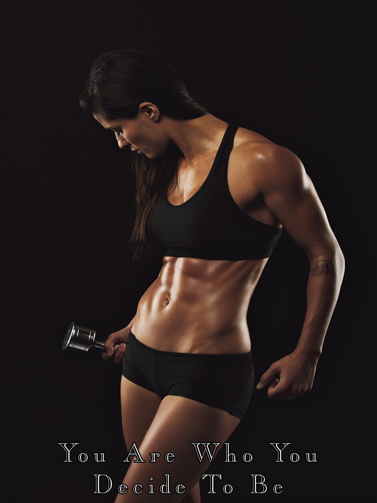 Fitness Model Poster Female Bodybuilder Workout Motivation Gym Poster 24x36 (SGV27)