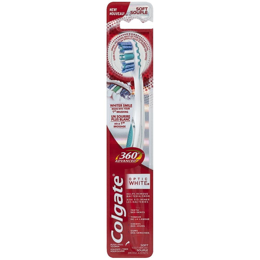 Colgate 360 Optic Soft Toothbrush, White, 1 Count Colgate-Palmolive CA