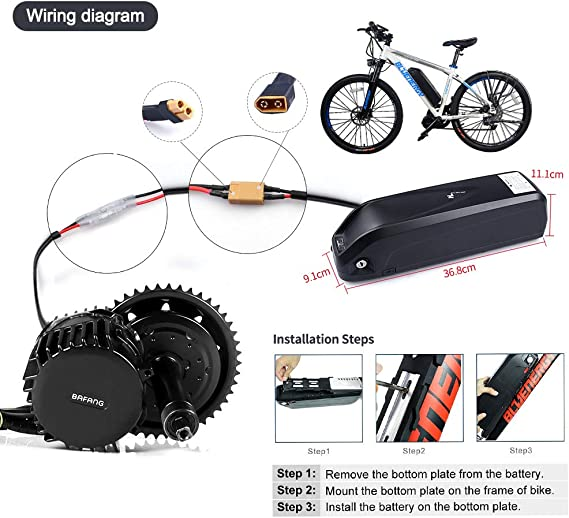 Bafang 8fun BBSHD 48V 1000W Kit de Motor Central Bicicleta ...
