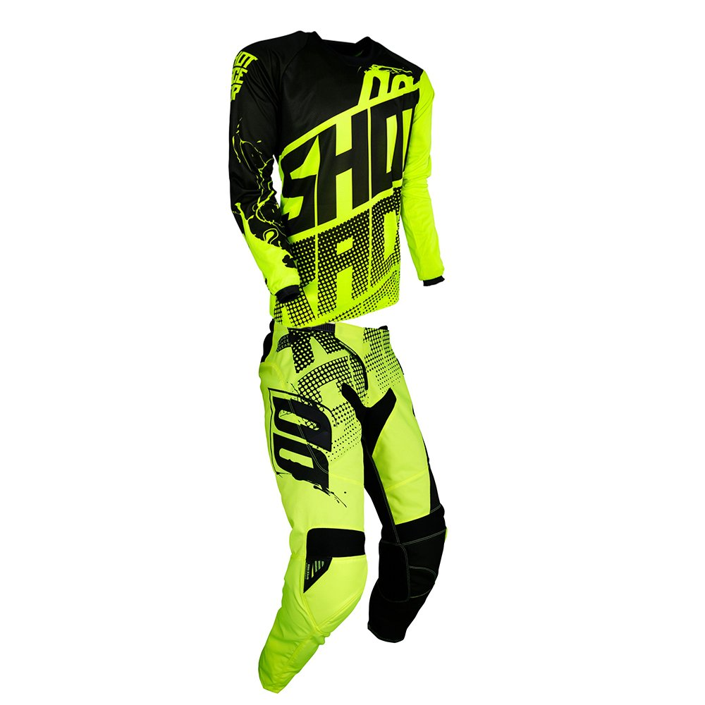 Shot Race Gear Contact Venom Neon Yellow Jersey/ Pant Combo - Size LARGE/ 34W