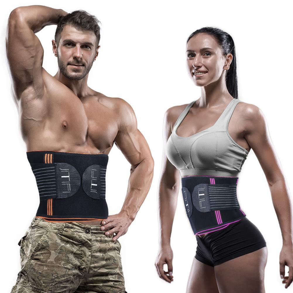 JITIFI Waist Cincher Trainer Belt Trimmer Slimmer Belt Body Shaper Compression Postpartum Recovery Band for Weight Loss Workout Fitness Back Brace Waistband