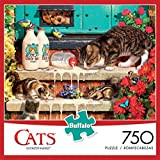 Buffalo Games - Cats Collection - Doorstep Raiders - 750 Piece Jigsaw Puzzle