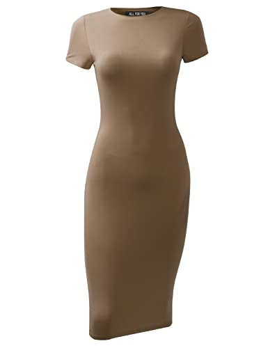 ALL FOR YOU Women's Slim Fit Sandwich Dress Made in USA