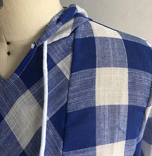 Royal Manches Tee Automne ulein Shirts Blouses Grille Bleu Tops Haut Casual Femmes Longues Printemps Jumper Capuche Chemisiers et Fashion Fr Fox Hoodie H1wxvqfH