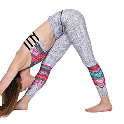 e7b70d6fb8714 Lumumi_Pant Women High Waist Yoga Pants Tummy Control Wrokout Running Tight  Stretch Bohemia Yoga Capri Leggings