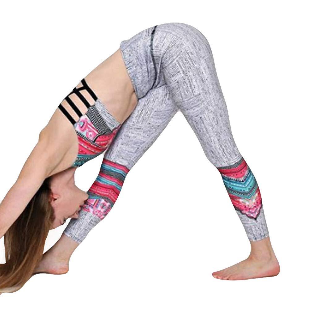Yoga Mujer Deportivas Pantalones, Alto Elásticas de Cintura Estampado Imprimir DE Floral Empalmado de Leggins Polainas Pilates Fitness Pantalones Calados De Costura En Botón Pantalones de Yoga