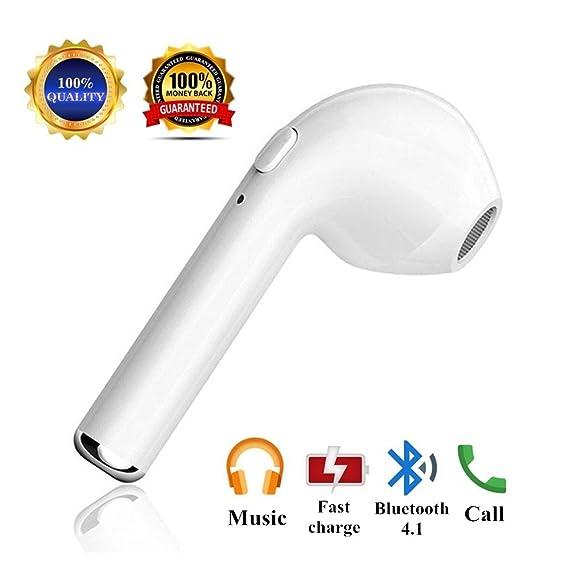 Bluetooth Earbud, V4.1 Mini Bluetooth Headphone apple wireless headset, Dustproof Sweatproof Noise