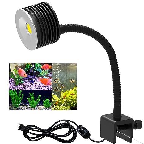 CHEE MONG LED Aquarium Light - Nano Fish Tank Light for Coral Reef - Fish  Clip Light Saltwater Aquarium Light