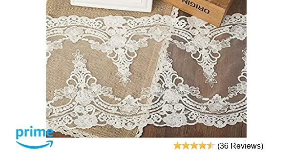 Amazon.com: 5 yards vintage embroidered lace edge trim ribbon