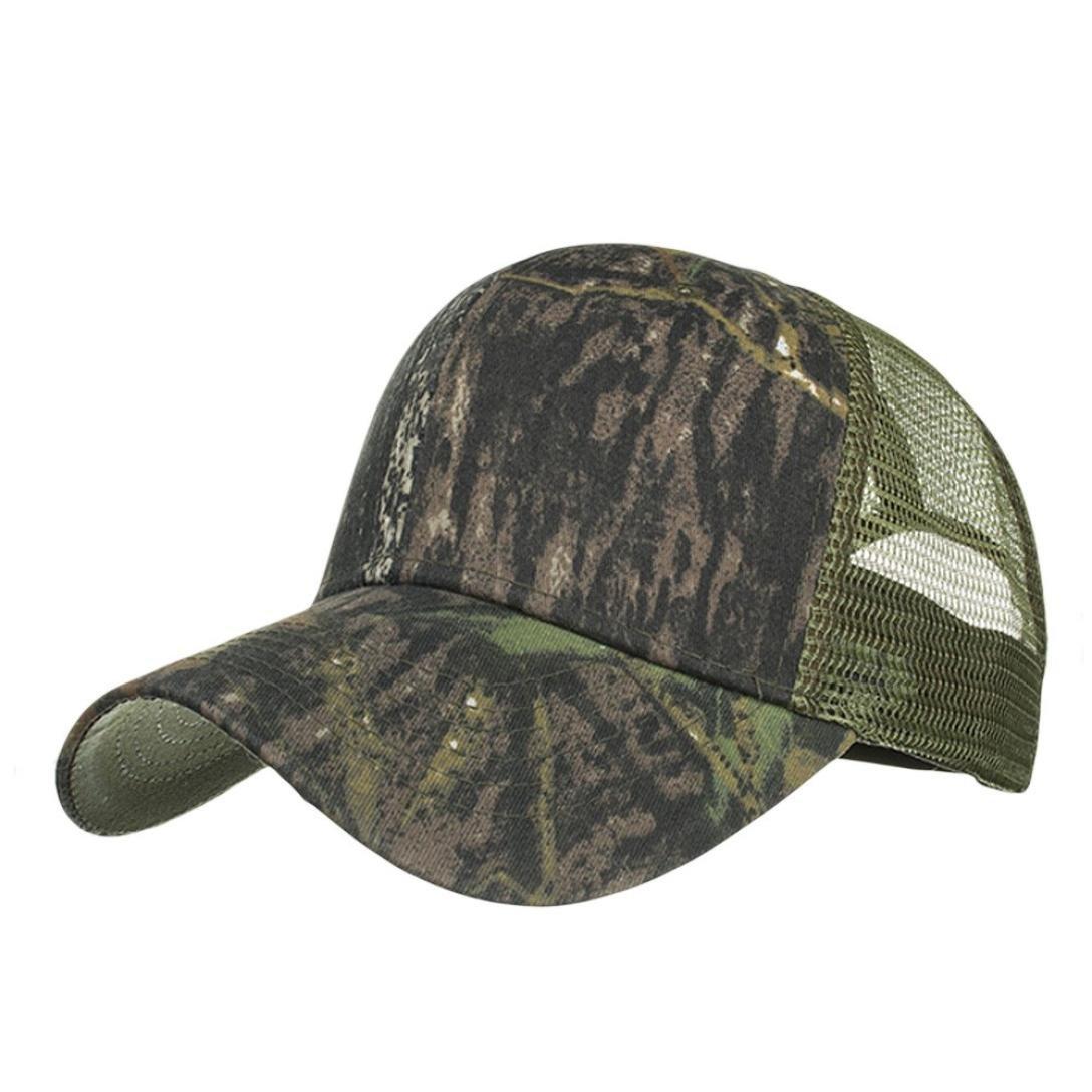 Gorro De Camuflaje para Hombres Y Mujeres AIMEE7 Mujeres De La Manera De Los Hombres Ajustables Camuflaje Casquillo del Verano Sombreros De Malla Sombra del Sombrero De B/éIsbol