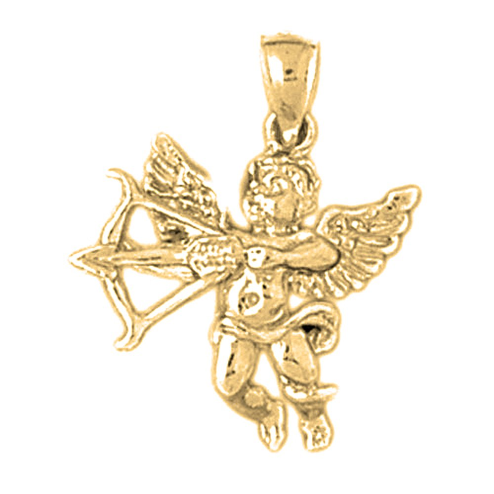 Jewels Obsession Best Mom Charm Pendant 16 mm 14K Yellow Gold Best Mom Pendant