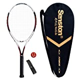 Senston Aluminum Tennis Racket,Tennis Racquet,Including Tennis Bag and 1 Overgrip + 1 Vibration Dampeners(Random Color)
