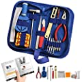 "Watch Repair Kit Professional - Complete Tool Set with Watchmaker's and Jewelers ""Maintenance & Service"" User Manual - Storage Case - Microfibre Cleaning Towel (16 Pieces)"