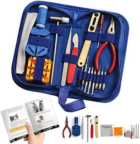 Watch Repair Kit Professional - Complete Tool Set with Watchmaker's and Jewelers