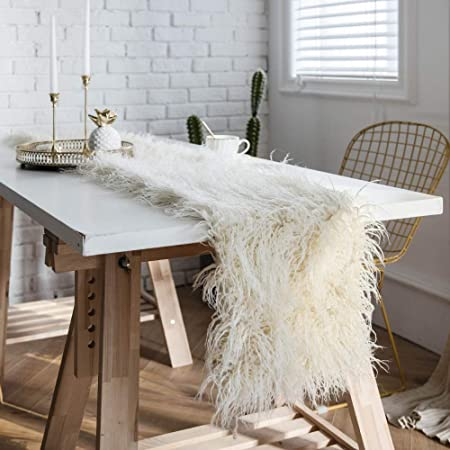 Telihome Wool Table Runner Table Goods Beach Wool Home Decoration 30 300 Beige Amazon Co Uk Kitchen Home