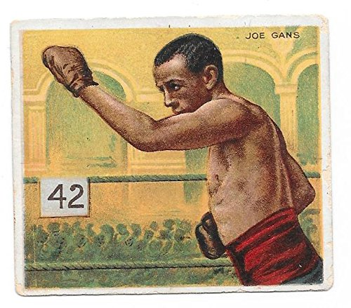 1910 T218 JOE GANS --BOXING HASSAN TOBACCO CARD ---UNCREASED & AFFORDABLE--- VERN'S CARD & COIN $1 Very Good