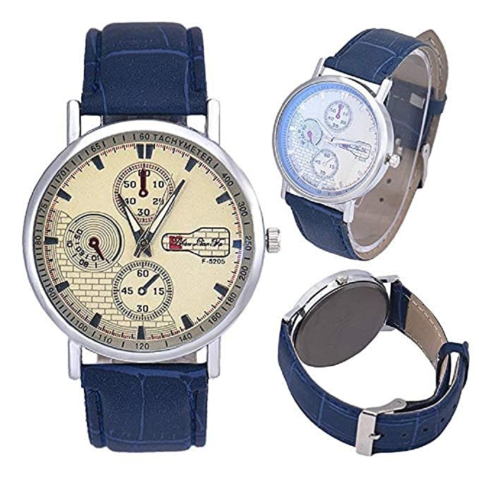 Amazon.com: Men Quartz Watch,Windoson Analog Business Casual Fashion Wrist Watch Mens Leather Watch (Blue): Electronics