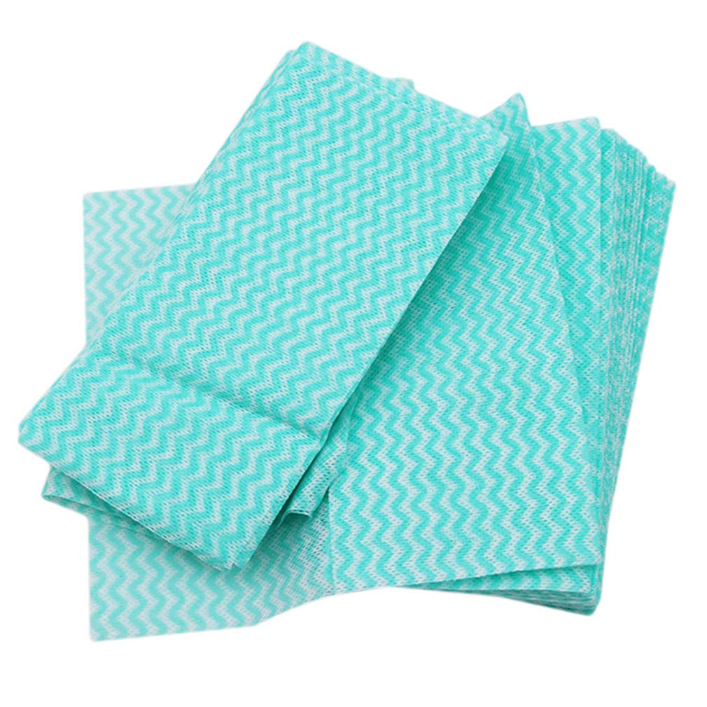 LALANG Cleaning Cloths Disposable Cleaning Towels Kitchen Towels Dish Cloths Heavy Duty Eco-friendly Non Woven Fabric Multipurpose Handy Wipes 80 pcs (green)