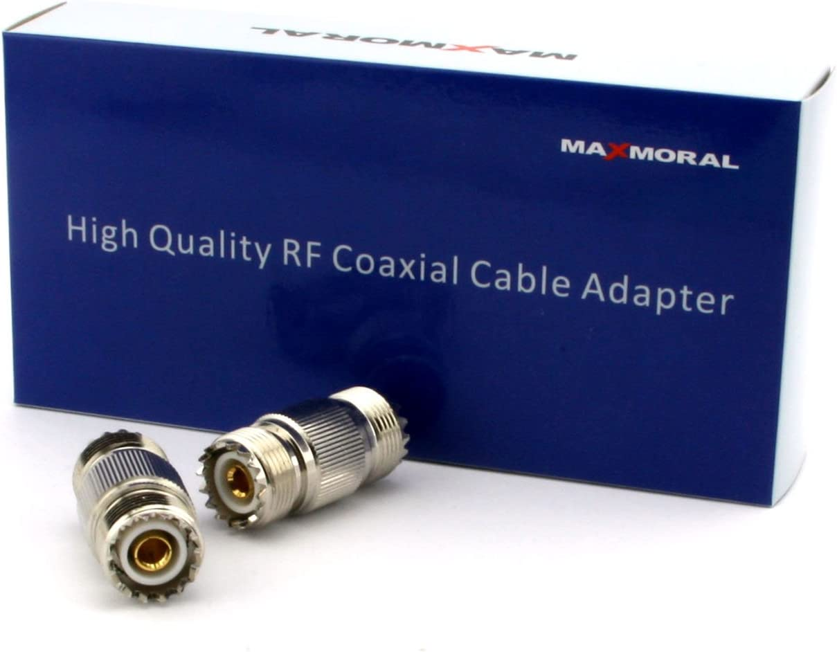 Maxmoral 5-Pack PL-259 UHF Female to UHF Female Coax Cable Adapter RF UHF-KK S0-239 Connector Plug