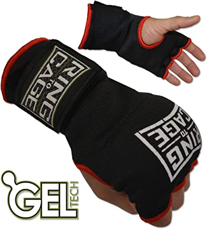 RING TO CAGE MMA GelTech Bag Gloves New!