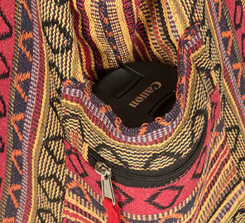 Tribe Azure Red Hobo Messenger Shoulder Bag Large Roomy School Sling Travel Camping Beach Cross body Photo #8