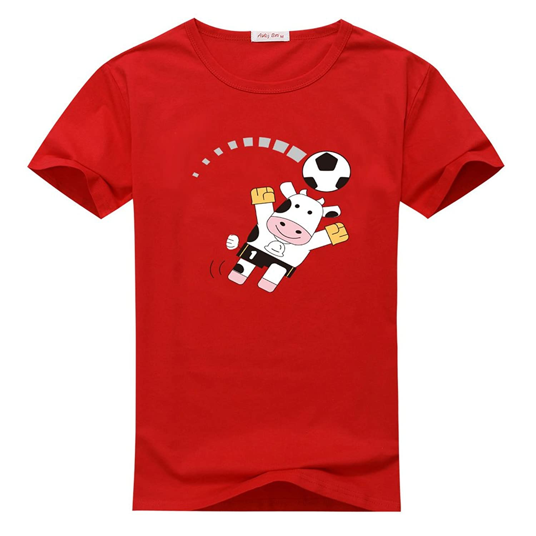 Xinhuayi Cows Animal Men's pure cotton Crew-neck T-Shirt