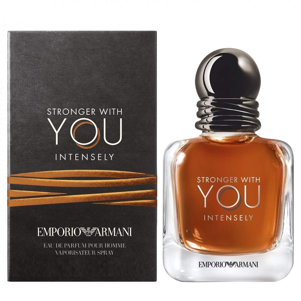 Gorgio Armani Emporio Armani Stronger With You Intensely for Men Eau De Parfum 0.5 fl oz, Limpio